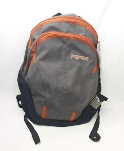 JanSport Airlift Backpack Gray & Orange School Hiking Travel Bag TDN8 Air Juice