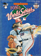 1989 World Series Program Baseball Oakland A's Athletics vs San Francisco Giants