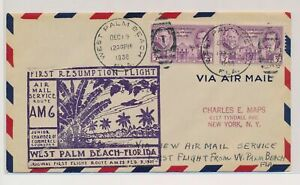 LO07774 USA 1936 first flight airmail good cover used