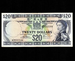 Fiji 20 Dollars 1974 P-75b * XF- * Queen Elizabeth *
