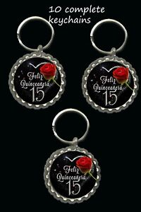 quinceanera keychainsparty favors lot of 10 great gifts birthday coming of age