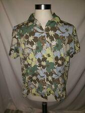 Columbia Womens Hawaiian Button Front Flower Shirt 1X