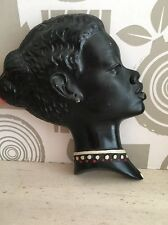 Retro Wall Plaque African Vintage Mid Century 50s 60s Kitsch