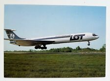 LOT Polish Airlines official postcard IL-62