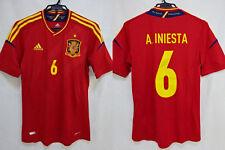 2012-2013 Spain Football Home Jersey Shirt Camiseta Adidas Iniesta #6 L BNWT