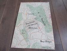 GRAND PLAN MANUSCRIT 1890 LANEUVILLE BELLEFONTAINE MEURTHE ET MOSELLE