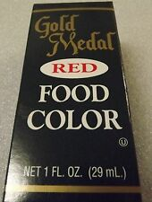 Gold Medal Red Food Coloring - Cake Decorating, Food Coloring 1 oz