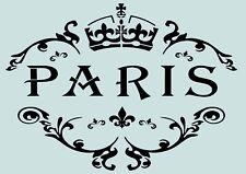 Schablone**PARIS-VINTAGE**A4****für Stoffe, Möbel usw.- ** Nr.: 810