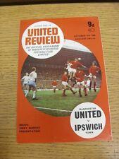 11/10/1969 Manchester United v Ipswich Town (Token) en blanco. gracias por ver o