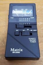 Matrix Sr2000 Quartz Guitar Tuner Tested Nice Lightly used. Excellent cond
