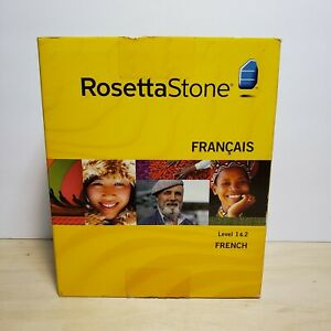 Rosetta Stone - French Francais - Level 1 2 - Perfect Discs, No Headset included
