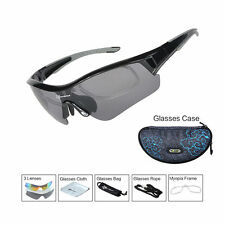 RockBros Polarized Cycling Glasses Sport Sunglasses Myopia Eyewear Frame Black