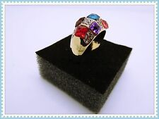 Multi Coloured Pretty Ring,Gems,Rhinestones,Gift Idea,Sparkly,Fashion,Bargain!!!