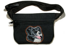 Border Collie gift - Embroidered Dog treat pouch/ bait bag for dog show.