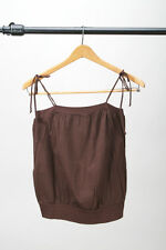 American Apparel - Brown 70's Style Tank Shirt -  M / Disco