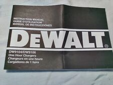 1994 DEWALT INSTRUCTION MANUAL CORDLESS DRILL CHARGER DW9104/DW9106