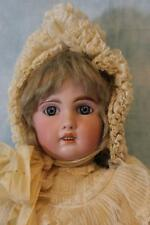"""Antique 20"""" French Bisque Jumeau 1907 Tete Jumeau Size 8 Blue Paperweight Eyes"""