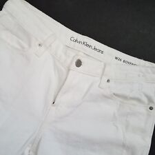 Calvin Klein Jeans Womens Denim Pants Boyfriend Classic DistressedSz 26 White B9