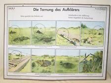 Schautafel Lehrtafel der NVA DIE TARNUNG DES AUFKLÄRERS 5 auf Pappe aufgezogen