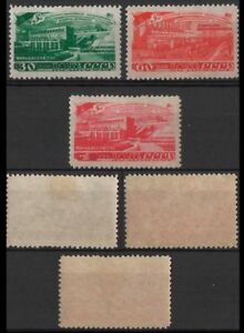 RUSIA-1948-STAMPS-FARKHATZ HYDROELECTRIC STATION-NEW HINGED-