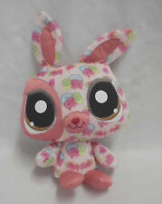 "My Littlest Pet Shop Plush Happiest Bunny 2008 Hasbro 10""  Multicolor 91531 CUTE"