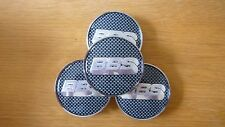 4PCS Logo Argenté Gris Wheel Center Hub Caps Badge Pour BBS visage 68 mm clip 65 mm