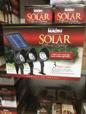 (3) Intermatic Malibu Solar Yard Landscape Garden Black Floodlight Spotlight NEW