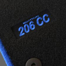 4 TAPIS SOL PEUGEOT 206CC ROXY QUICKSILVER MOQUETTE LOGO BLEU SUR MESURE