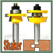 "2pc 1/2"" Shank Shaker Bevel Rail & Stile Router Bit Set sct-888"