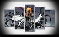 Art  Abstract Hollow ichigo bleach anime print poster canvas decoration 5 pieces