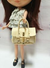 Dollhouse Miniatures Cream Fashion Handbag for Blythe/Barbie/Pullip/Licca Doll