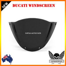 Black Double Bubble Windshield Windscreen Ducati M1000 Monster 696 659 795 796