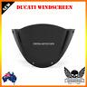 Black Double Bubble Windshield Windscreen Ducati M1000 Monster 696 659 795 796