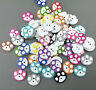 Cute Mixed color Wooden cartoon dog paw prints Buttons sewing scrapbooking 15mm