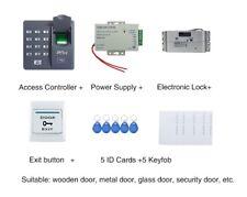 ID Card & Fingerprint Access Control Kit With Drop Bolt Lock+powersupply+keyfobs