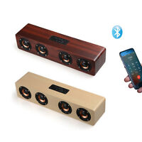 3W*4 Wooden Wireless Bluetooth Speaker Portable Handsfree Subwoofer For phones
