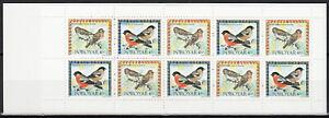 Faroe Booklet Migratory Birds 1997 MNH-20 Euro