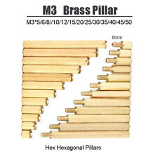 M3 Brass Pillar Hexagonal Pillars Male-Female Female-Female PCB Standoff Spacers