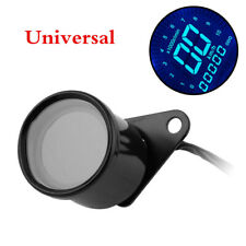 1pcs Motorcycle Digital Speedometer Retro LCD Odometer Metal Universal 12V DC