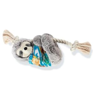 Fringe Studio Slown' Down For Summer Sloth on a Rope Dog Toy