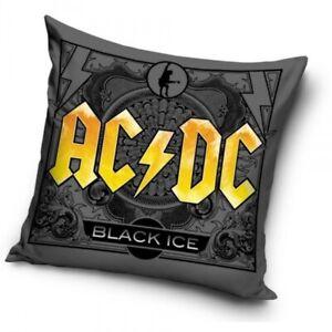 AC/DC Deko-Kissen, beidseitig bedruckt Motiv: Black Ice  Maße: ca. 40x40cm