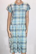 Cabin Creek Brand Green Check Short Sleeve Pocket Day Dress Size L BNWT #SF105