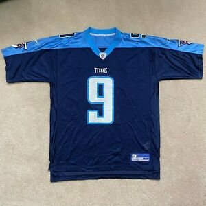 Vtg NFL Reebok Tennessee Titans Steve McNair Vintage Replica Jersey #9 L Large