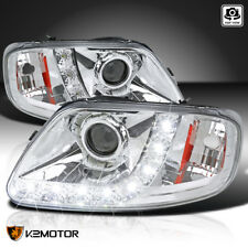 1997-2004 Ford F150/Expedition Chrome Housing LED Strip Projector Headlights