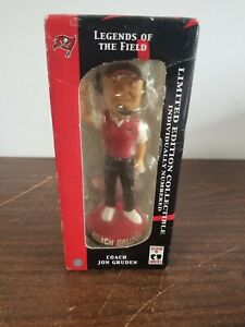 Jon Gruden Bobblehead Coach Buccaneers Forever Collectibles Limited Edition