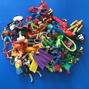LARGE lot 50 Action Figures - mixed group MOTU monsters Spiderman etc Toy Biz