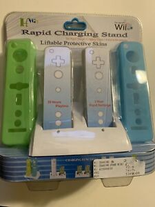 4x Rechargeable Batteries + Remote Controller Charging Station For Nintendo Wii