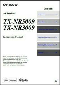 Onkyo TX-NR5009 / TX-NR3009  AV Receiver Owner's Manual - Operating Instructions