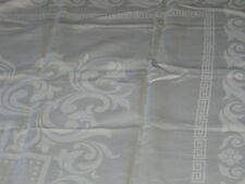 Exquisite Antique Irish Linen Damask Tablecloth~Art Deco Swirls~Bridal