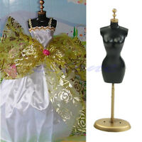 """5Pcs Doll Display Holder Dress Clothes Gown Mannequin Model Stand 9.8"""" E4"""